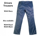 CLEARANCE Navy Drivers Trousers (W203)
