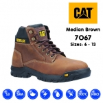 Cat Median Brown Safety Boot (7067)