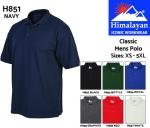 Classic Mens Polo Shirt Black (H852)