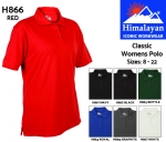 Classic Womens Polo Shirt Black (H862)