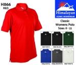 Classic Womens Polo Shirt White (H867)