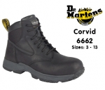 Dr Martens Corvid Black Leather Safety Boot (6662)