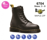 Dr Martens MAPLE ZIP Black Leather Womens Safety Boot (6704)