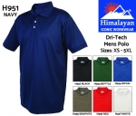 Dri-Tech Mens Black Polo Shirt (H952)