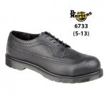 Executive Black Leather 4 Eyelet Lace Safety Shoe (6733)
