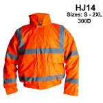 Hi Viz Orange Superior 300D Bomber Jacket (HJ14)