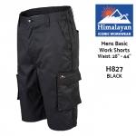 Himalayan ICON Basic Black Work Shorts (H827)