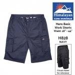 Himalayan ICON Basic Navy Work Shorts (H828)