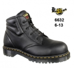 Icon Black Greasy Leather 4 Eyelet Chukka Safety Boot (6632)
