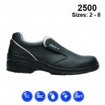 Ladies Black Microfibre Casual Safety Shoe (2500)