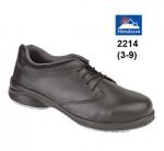 Ladies Black Star Lace Shoe (2214)