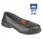 Ladies Black Star Court Shoe (2213)