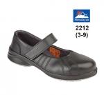 Ladies Black Star Velcro Shoe (2212)