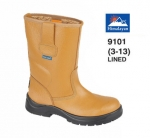 Tan Leather Safety Rigger With Fleecy Warm Lining (9101)