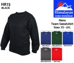 Team Mens Sweatshirt Black (H873)